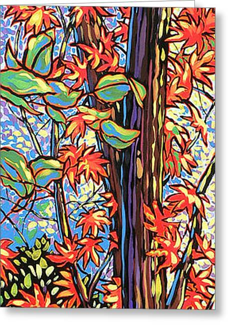 Recently Sold -  - Nadi Spencer Greeting Cards - Tree Long Greeting Card by Nadi Spencer