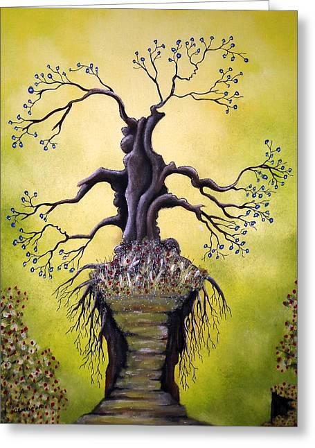 Edwin Alverio Greeting Cards - Tree of Agony Greeting Card by Edwin Alverio