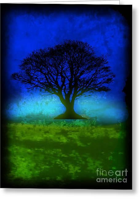 Splashy Art Greeting Cards - Tree of Life - Blue Skies Greeting Card by Robert R Splashy Art