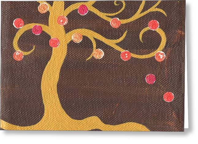 Nyc Posters Paintings Greeting Cards - Tree of Life - Left Greeting Card by Kristi L Randall
