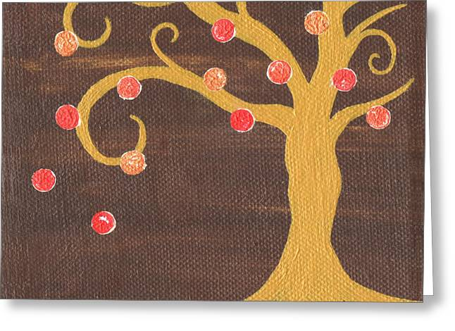 Nyc Posters Paintings Greeting Cards - Tree of Life - Right Greeting Card by Kristi L Randall