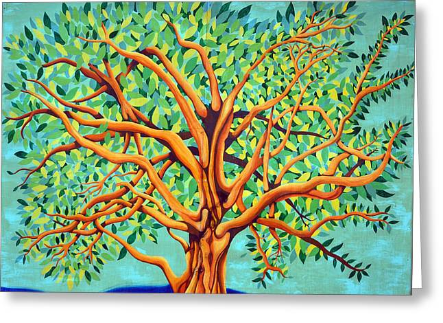 Tree Of Life Greeting Card by Fraida Gutovich