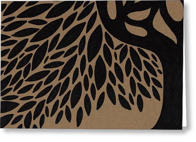 Roots Drawings Greeting Cards - Tree of Life Greeting Card by HD Connelly