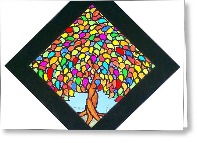 Jim Harris Greeting Cards - Tree of Life Greeting Card by Jim Harris