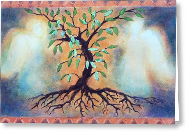 Nature Of Being Greeting Cards - Tree of Life Greeting Card by Kathy Braud