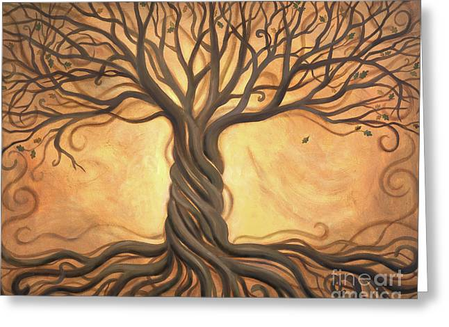 Tree Roots Greeting Cards - Tree of Life Greeting Card by Renee Womack