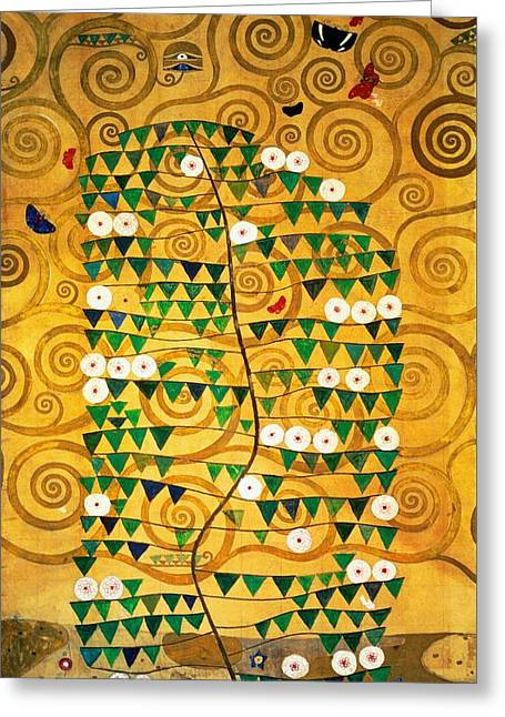 1918 Paintings Greeting Cards - Tree of Life Stoclet Frieze Greeting Card by Gustav Klimt