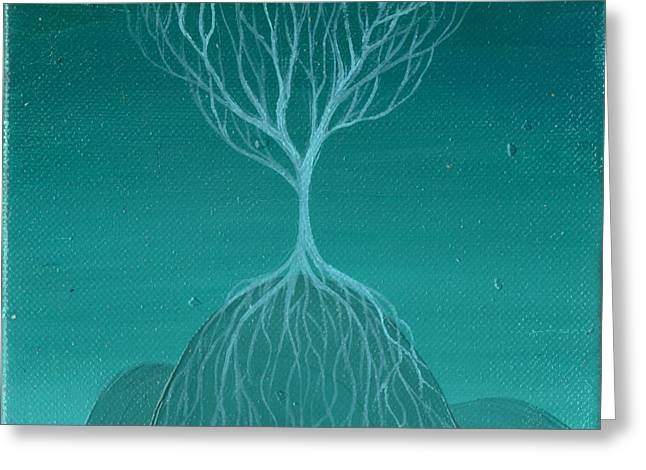 Tree Roots Paintings Greeting Cards - Tree of Renewal Greeting Card by Lisa Stevens