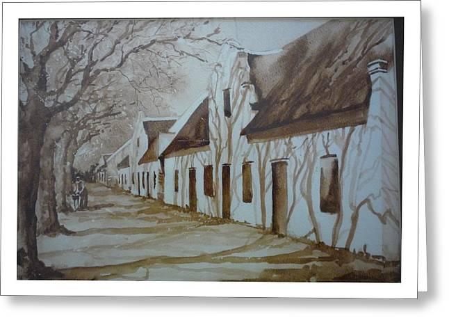Stellenbosch Greeting Cards - Tree shadows Greeting Card by Barbi Vandewalle