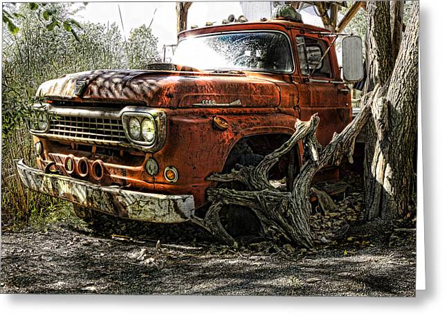 Duty Greeting Cards - Tree Truck Greeting Card by Peter Chilelli