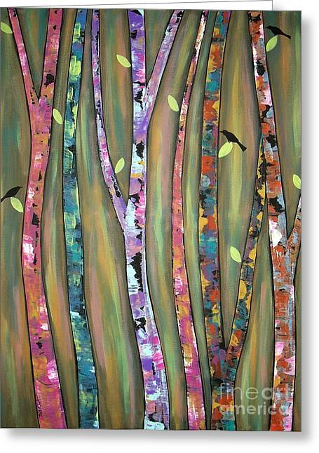 Tree Art Greeting Cards - Tree Whistlers Greeting Card by Karla Gerard