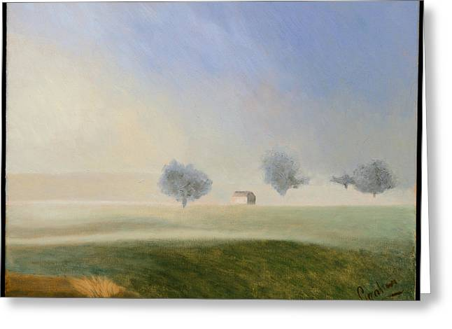 Trees In The Mist Greeting Card by Gloria Cigolini-DePietro