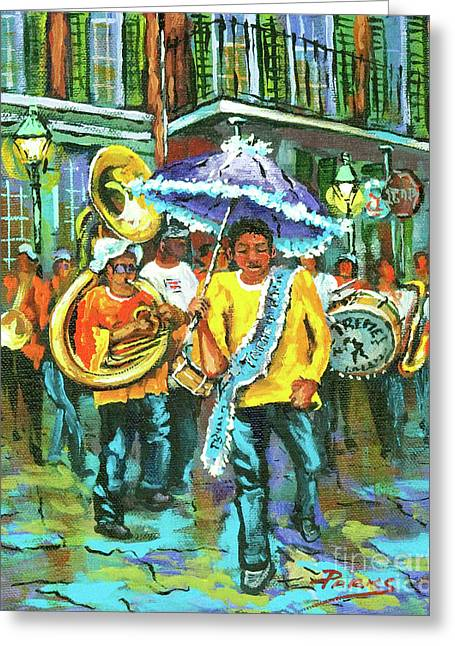 Marching Band Greeting Cards - Treme Brass Band Greeting Card by Dianne Parks