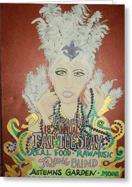Party Hat Posters Greeting Cards - Tresettis Fat Tuesday Festival 2012 Greeting Card by James  Christiansen