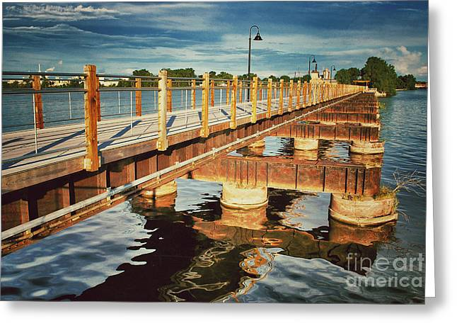 Menasha Greeting Cards - Trestle Across Little Lake Buttes Des Mortes Greeting Card by Shutter Happens Photography