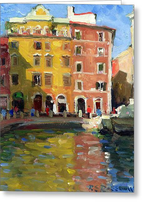 Trevi Fountains Rome Greeting Card by Roelof Rossouw