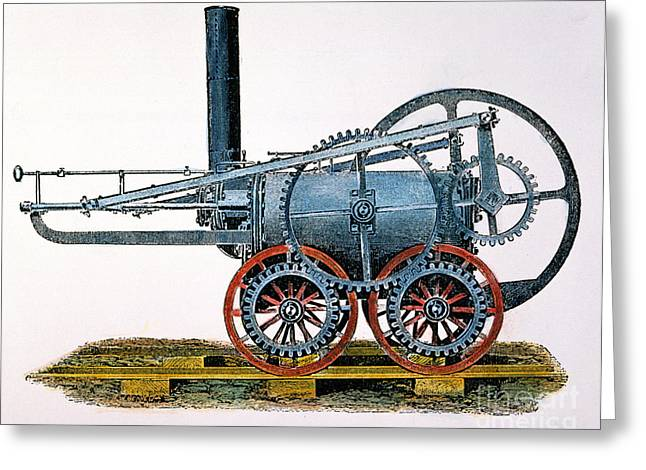 Trevithick Greeting Cards - Trevithicks Locomotive Greeting Card by Granger