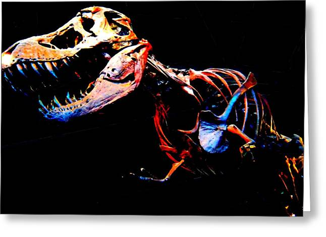 Opposition Drawings Greeting Cards - Trex Greeting Card by Howard Perry