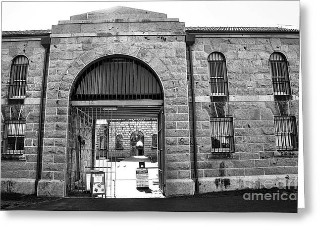 Barred Window Greeting Cards - Trial Bay Jail Greeting Card by Kaye Menner