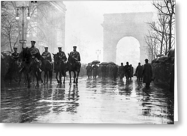 Union Square Greeting Cards - Triangle Fire Memorial, 1911 Greeting Card by Granger