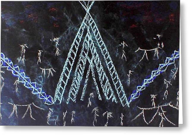 Wow Pastels Greeting Cards - Tribal Festival Greeting Card by Ginger Lovellette