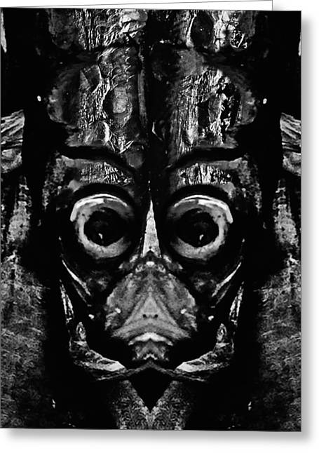 Reverence Greeting Cards - Tribal Mask 2 Greeting Card by Skip Nall