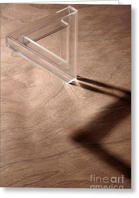 Impossible Object Greeting Cards - Tribar Shadow Greeting Card by Raul Gonzalez Perez