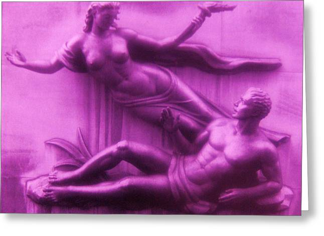 Gay Art Framed Giclee On Canvas Greeting Cards - TRIBUTE  8  -  Art Deco Greeting Card by Gunter  Hortz