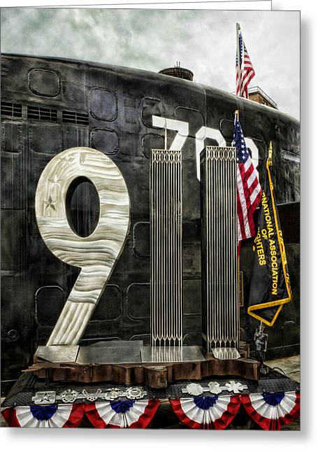 Armed Forces Greeting Cards - Tribute 911 Greeting Card by Peter Chilelli