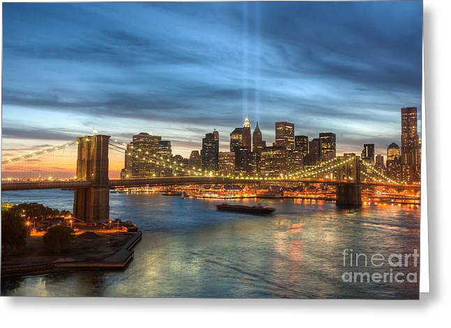 Tribute Art Greeting Cards - Tribute in Light I Greeting Card by Clarence Holmes
