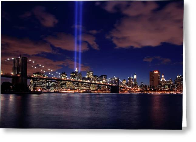 Eleven Greeting Cards - Tribute In Light II Greeting Card by Rick Berk