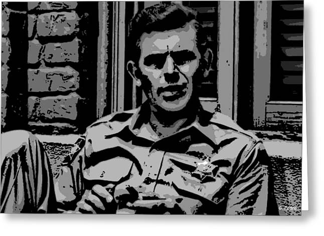 Best Sellers -  - Andy Griffith Show Greeting Cards - Tribute to Andy Greeting Card by George Pedro