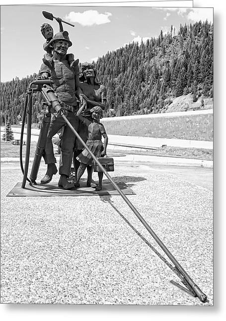 Lunch Box Greeting Cards - TRIBUTE to the MINING FAMILY - WALLACE IDAHO Greeting Card by Daniel Hagerman