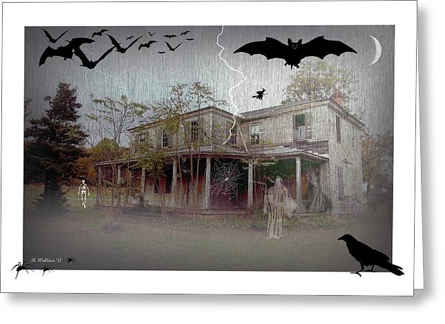 Flying Spider Greeting Cards - Trick or Run Like Hell Greeting Card by Brian Wallace