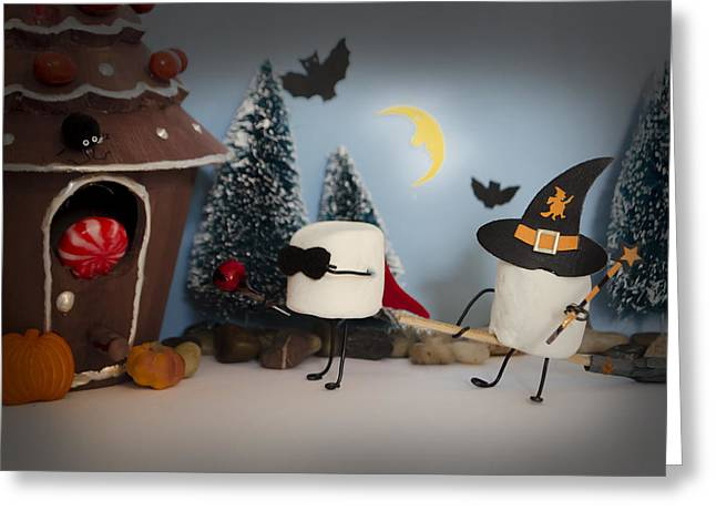 Holloween Greeting Cards - Trick or Treat Greeting Card by Heather Applegate