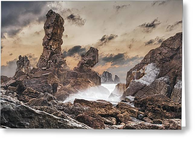 Atlantic Ocean Greeting Cards - Trident Greeting Card by Evgeni Dinev
