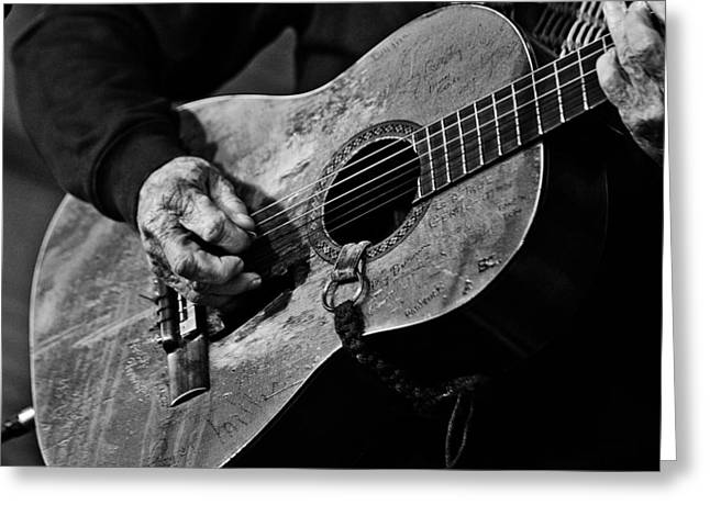 Guitar Photographs Greeting Cards - Trigger and Willie Greeting Card by Ty Helbach