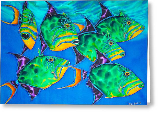 Triggerfish Postcard Greeting Cards - Triggers Greeting Card by Daniel Jean-Baptiste