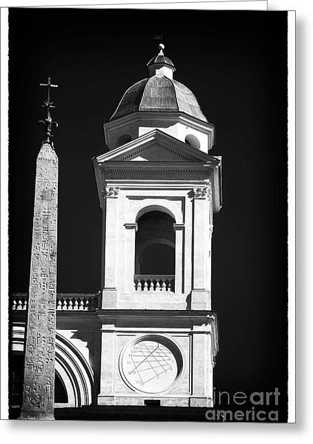 Religious Artist Photographs Greeting Cards - Trinita Church Tower Greeting Card by John Rizzuto