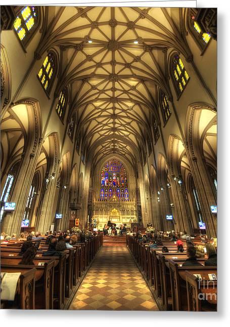 Art For Church Greeting Cards - Trinity Church NYC Greeting Card by Yhun Suarez