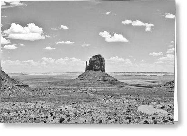 Trio    Left and Right Mittens and Merrick Butte  Greeting Card by Ryan Kelly