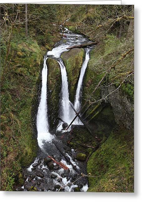 David Yunker Greeting Cards - Triple Falls Greeting Card by David Yunker