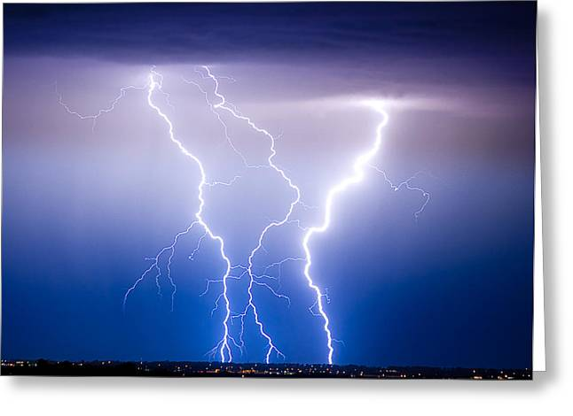 """james Insogna"" Greeting Cards - Triple Lightning Greeting Card by James BO  Insogna"