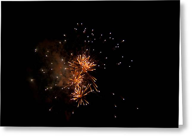 Pyrotechnics Greeting Cards - Triple Pop Greeting Card by Paul Mangold
