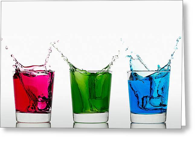 Wine Flowing Greeting Cards - Triptych - RGB Greeting Card by Gert Lavsen