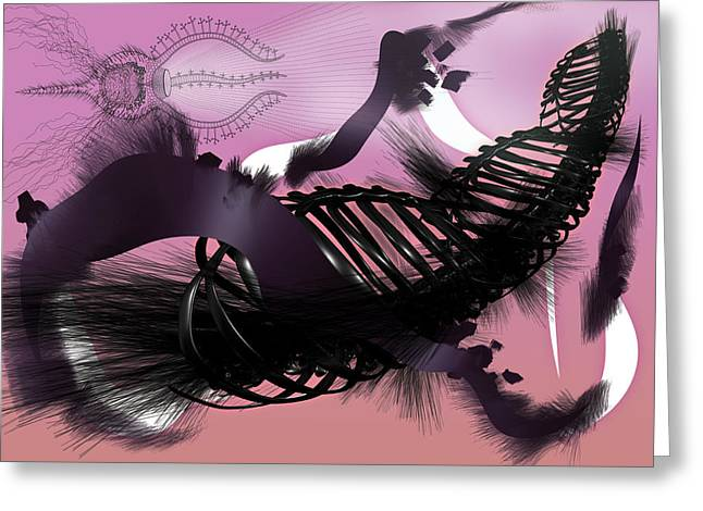 Air Brush Greeting Cards - Tristan Greeting Card by Foltera Art