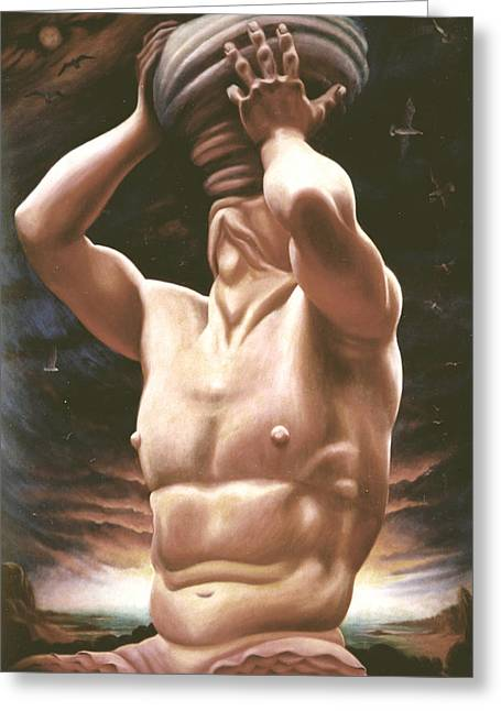 Italy Sculptures Greeting Cards - Triton Greeting Card by Galeria Rossmore