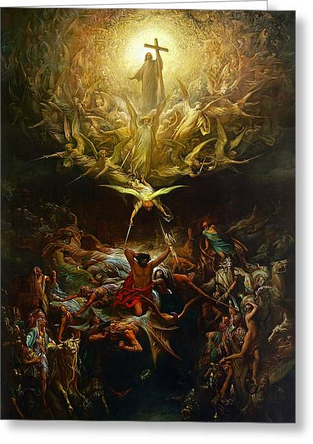 Dore Greeting Cards - Triumph of Christianity  Greeting Card by Gustave Dore
