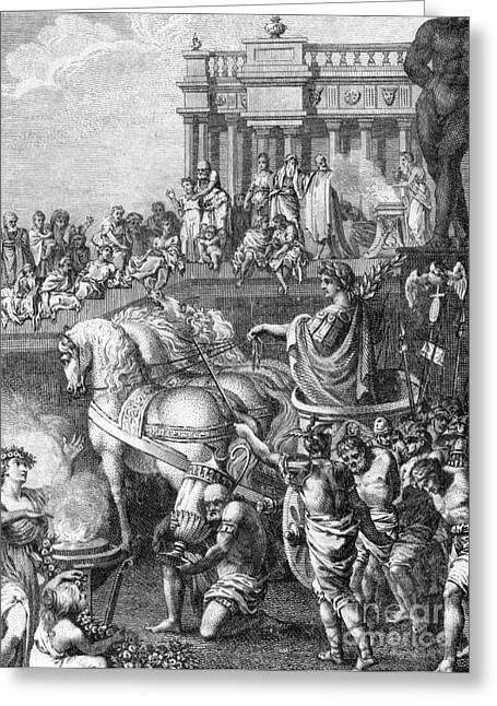 Jewish History Greeting Cards - Triumph Of Titus, 70 Ad Greeting Card by Photo Researchers