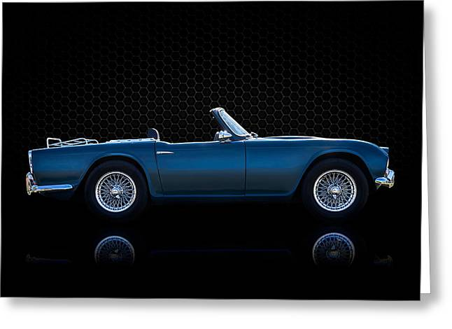 Vintage Transportation Greeting Cards - Triumph TR4 Greeting Card by Douglas Pittman